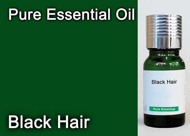 black hair essential oil