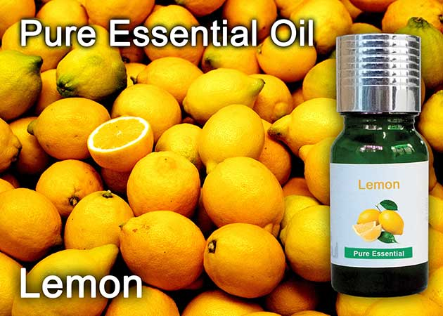 yellow lemon essential oil